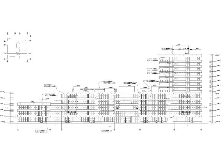 123100㎡框剪结构医院新建工程全套图纸_3