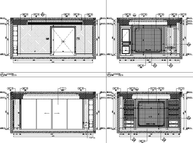 [重庆]182㎡现代四居室住宅精装施工图2020_6