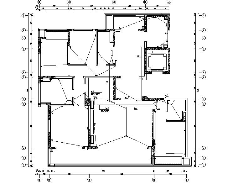 [重庆]182㎡现代四居室住宅精装施工图2020_8