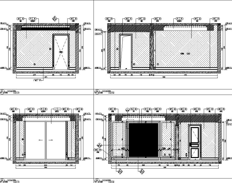 [重庆]182㎡现代四居室住宅精装施工图2020_15