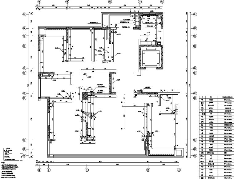 [重庆]182㎡现代四居室住宅精装施工图2020_10