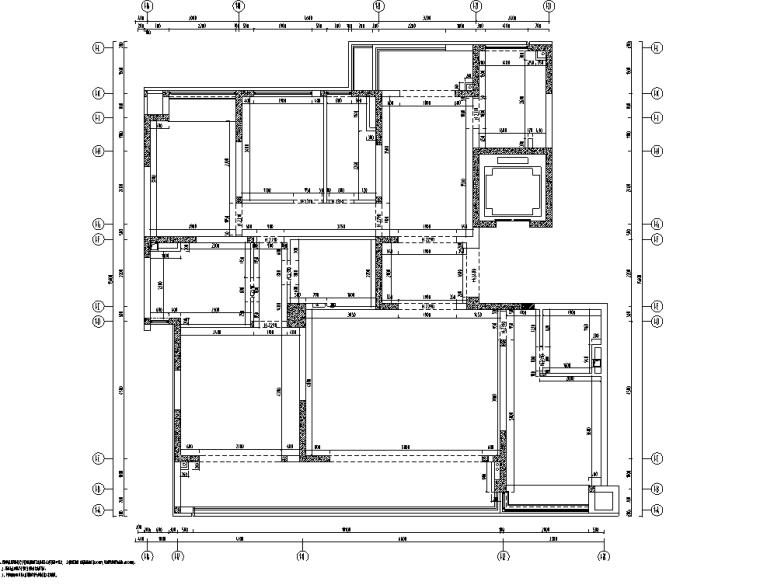 [重庆]182㎡现代四居室住宅精装施工图2020_11
