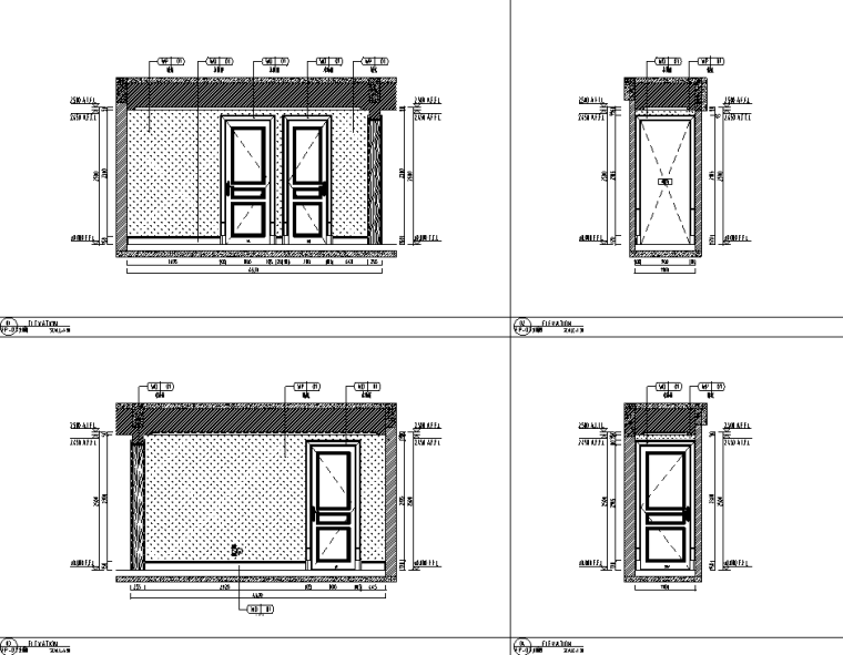 [重庆]182㎡现代四居室住宅精装施工图2020_4
