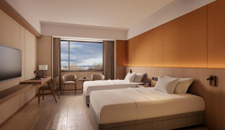2021年酒店双床房装修图纸_11