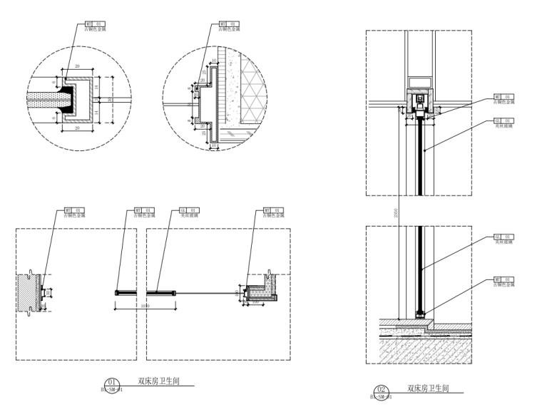 2021年酒店双床房装修图纸_5