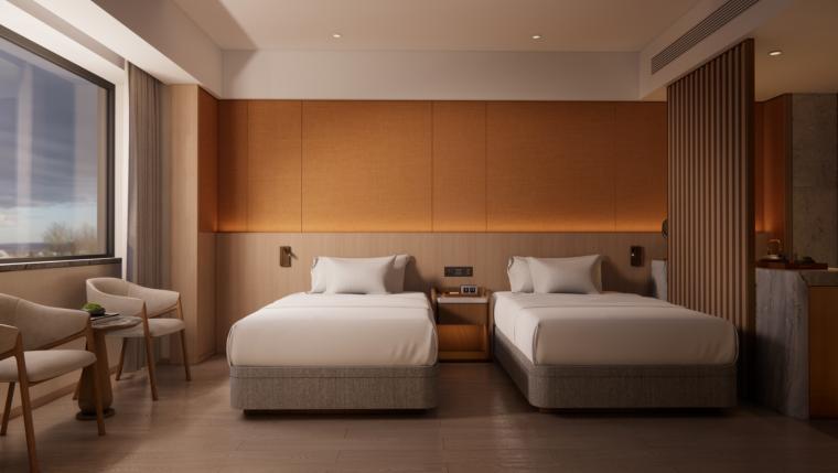 2021年酒店双床房装修图纸_12