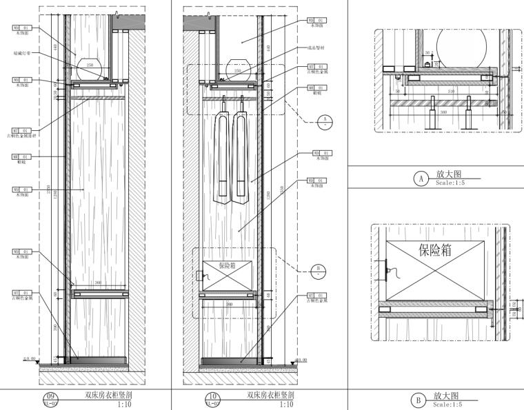 2021年酒店双床房装修图纸_15