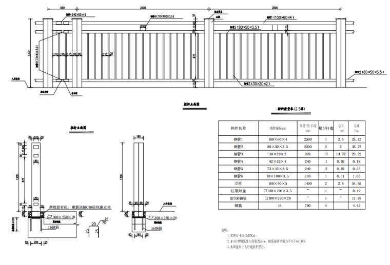 [重庆]桥梁护栏改造施工图汇总334p(2021)_11