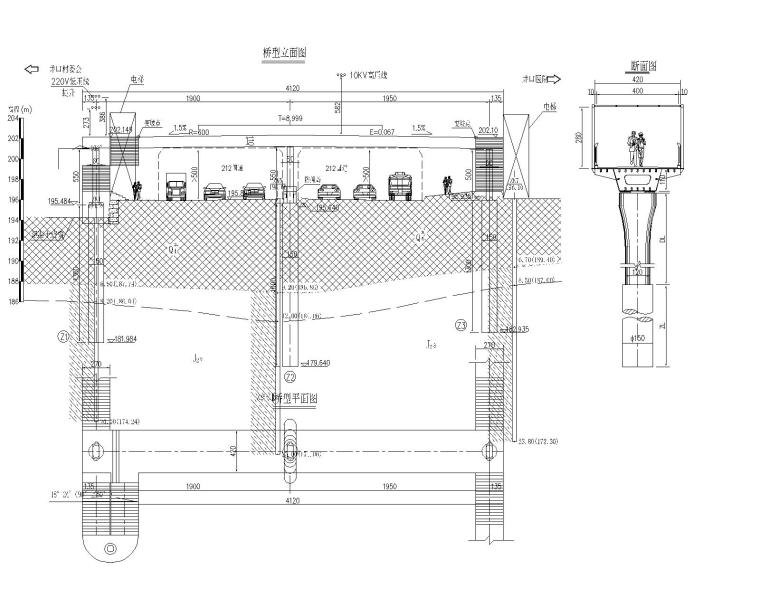 等截面斜腹板钢箱梁过街人行天桥施工图2019_4