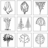 室外景观CAD图块_园林景观图片