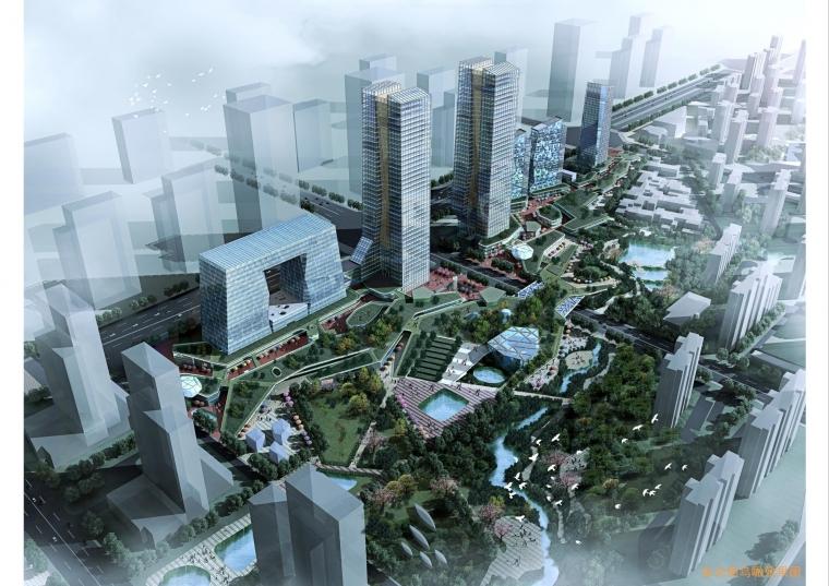 西安绿地世纪城核心商务区规划设计_3