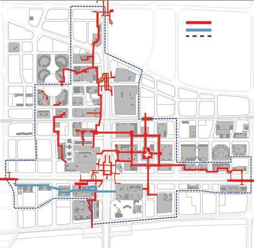 5400米地下连廊将贯穿CBD 两条人行道年内建成