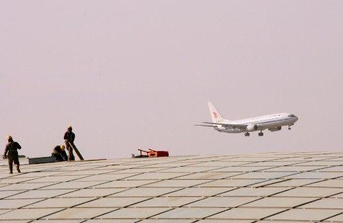 首都国际机场三号航站楼主楼建设工程正在进行