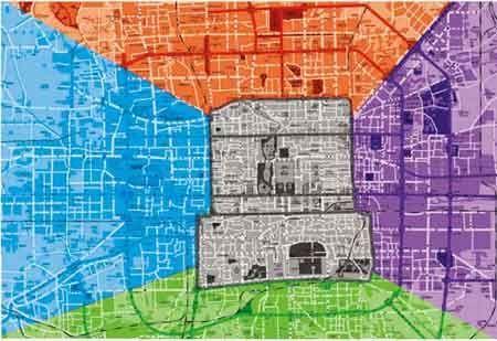 北京五色之都设计方案 王府井地区建中央公园