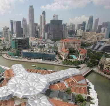 """Alsop在新加坡克拉克码头设计""""环保屋顶""""多用途项目"""