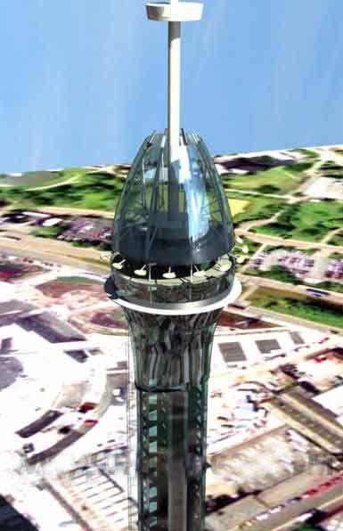 """英国SMC集团在伯明翰设计175米的""""尖塔""""项目"""
