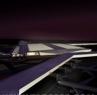 HOK赢得印度英吉拉.甘地国际机场新航站楼设计权