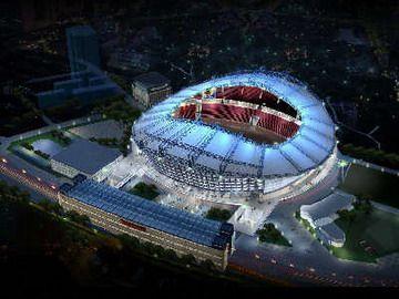 虹口足球场做大规模改造 艺术照明选定蓝色