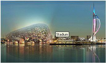 鸟巢设计者锐意革新 英超将现全球首座海上球场