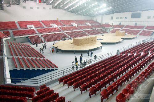 北京奥运会摔跤比赛馆进入收尾阶段