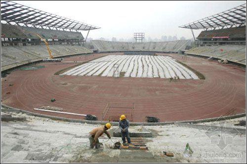 奥体中心体育场最新建设进展