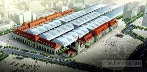 欧式建筑柱资料下载-青岛新火车站鸟瞰效果图亮相 德式钟楼最惹眼