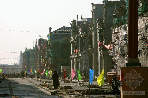 北京前门步行街改造工程完成过半