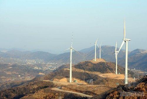 浙江海岛建设大规模风力发电场