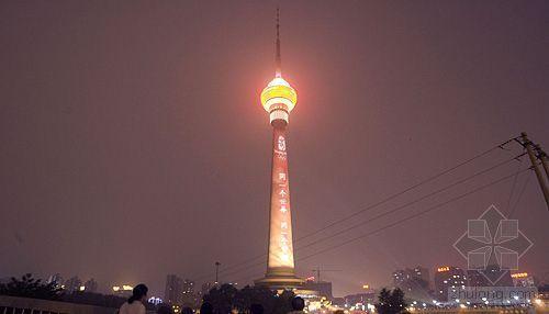 中央电视塔夜景灯光亮灯