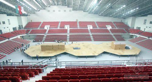 中国农大体育馆工程收尾 08奥运摔跤馆全貌