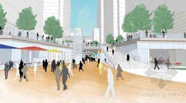 Rogers Stirk Harbour公布伦敦Wood码头混合用途项目