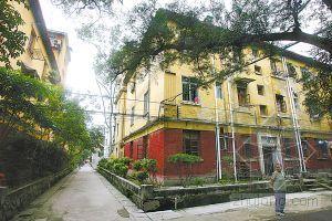 广州发现苏式老建筑群 墙面涂毛主席语录