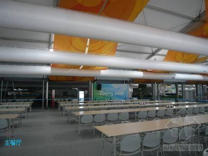 索斯风管系统在北京奥运村主餐厅发挥重要作用
