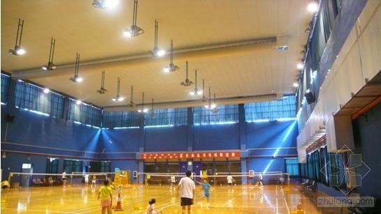 索斯®风管系统在韩爱萍羽毛球馆的应用