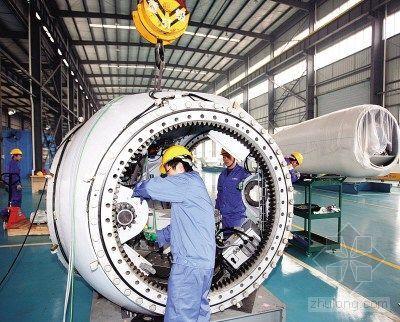 四川产大型风力发电机组即将下线