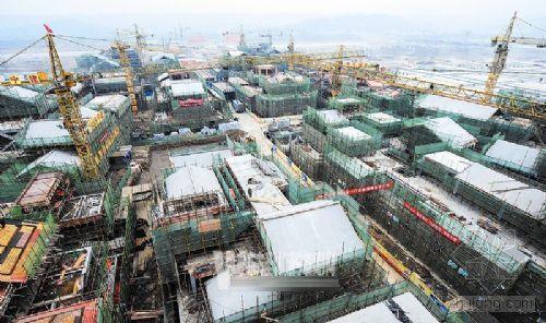 济宁援建羌族特色商业步行街工程已初具雏形