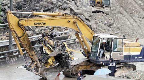 台高速路滑坡罹难者遗体获确认 场面惨烈