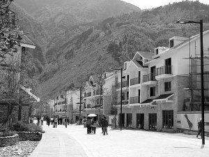 映秀打造世界地震遗址名镇 新房堪比别墅