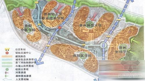 贵阳:湖水相伴 绿带环抱 花溪大学城蓝图下月出炉