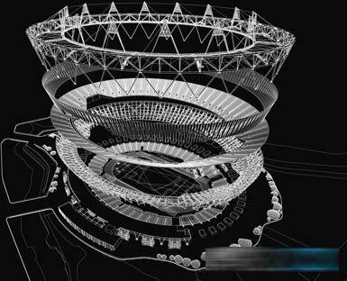 伦敦奥林匹克体育场照明系统首次使用