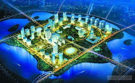 郑东新区三湖示意图 未来龙子湖首次展现龙貌