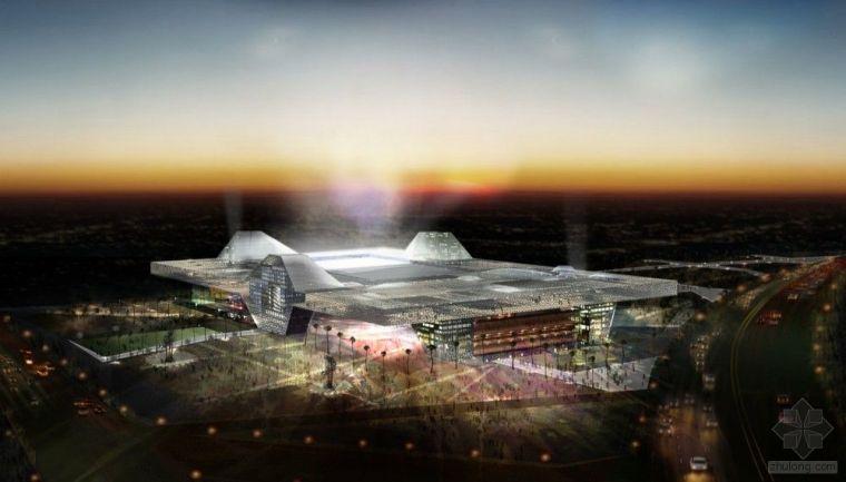 Populous的建筑师丹·梅斯设计2022年卡塔尔运动城体育场