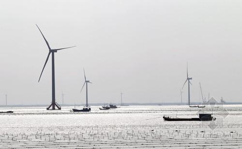 全国规模最大海上风电场在如东县建成