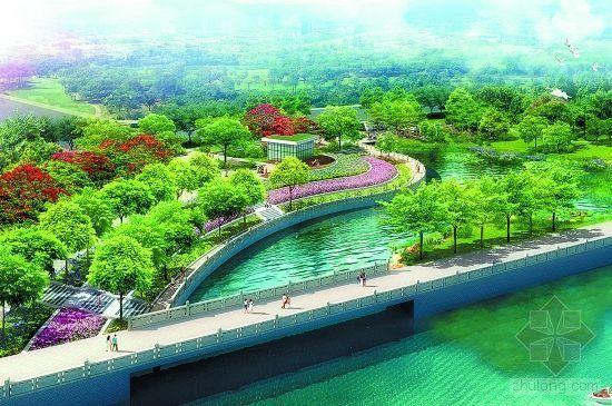 泉州滨海公园全面绿化年底完工