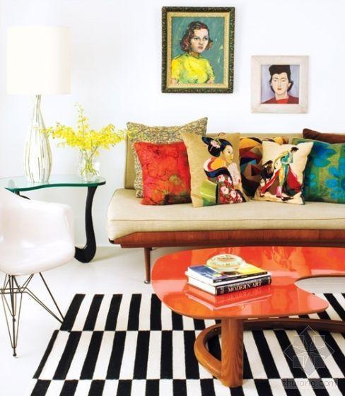 超靓公寓 流行艺术画装点明亮家居空间