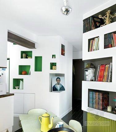 法国设计师的60平米小户型空间设计