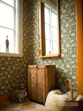 浅色系田园风格壁纸 小户型的专属童话屋