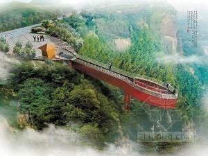 世界最长玻璃廊桥大部分完工