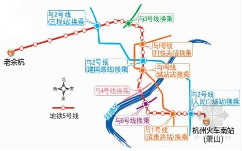 杭州地铁5号线正进行地质勘探