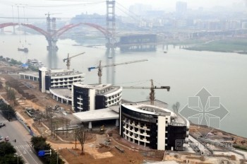 南充旅游客运码头开始景观绿化建设